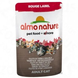 Almo Nature Rouge Label Filets in Pouches 6 x 55 g - Tonijnfilet & kreeft