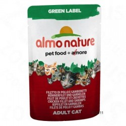 Almo Nature Green Label Filets Kattenvoer 6 x 55 g - Tonijnfilet & kipfilet met ham