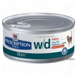 Hills Prescription Diet Feline w/d Kattenvoer - 6 x 156 g