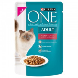 Purina One 6 x 85 g Adult Kattenvoer