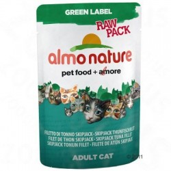 Almo Nature Green Label Raw in Pouches Kattenvoer 6 x 55 g - Kippenborst en eendenfilet