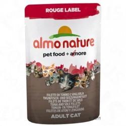 Almo Nature Rouge Label Filets in Pouches 6 x 55 g - Tonijnfilet & kreeft