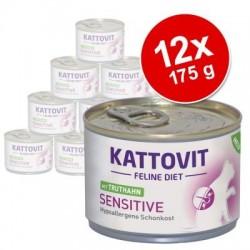 Kattovit sensitive 12 x 175 g kattenvoer - met kip