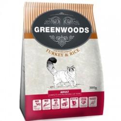 Greenwoods Adult Kalkoen & Rijst Kattenvoer