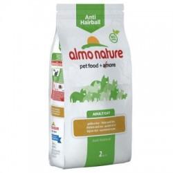 Almo Nature Anti Hairball Kip & Rijst Kattenvoer