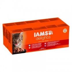 IAMS Delights Adult 48 x 85 g Kattenvoer
