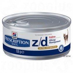 Hills Prescription Diet Feline z/d Ultra Allergeen-Vrij - 6 x 156 g